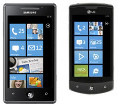 LG Optimus 7 Samsung Omnia 7